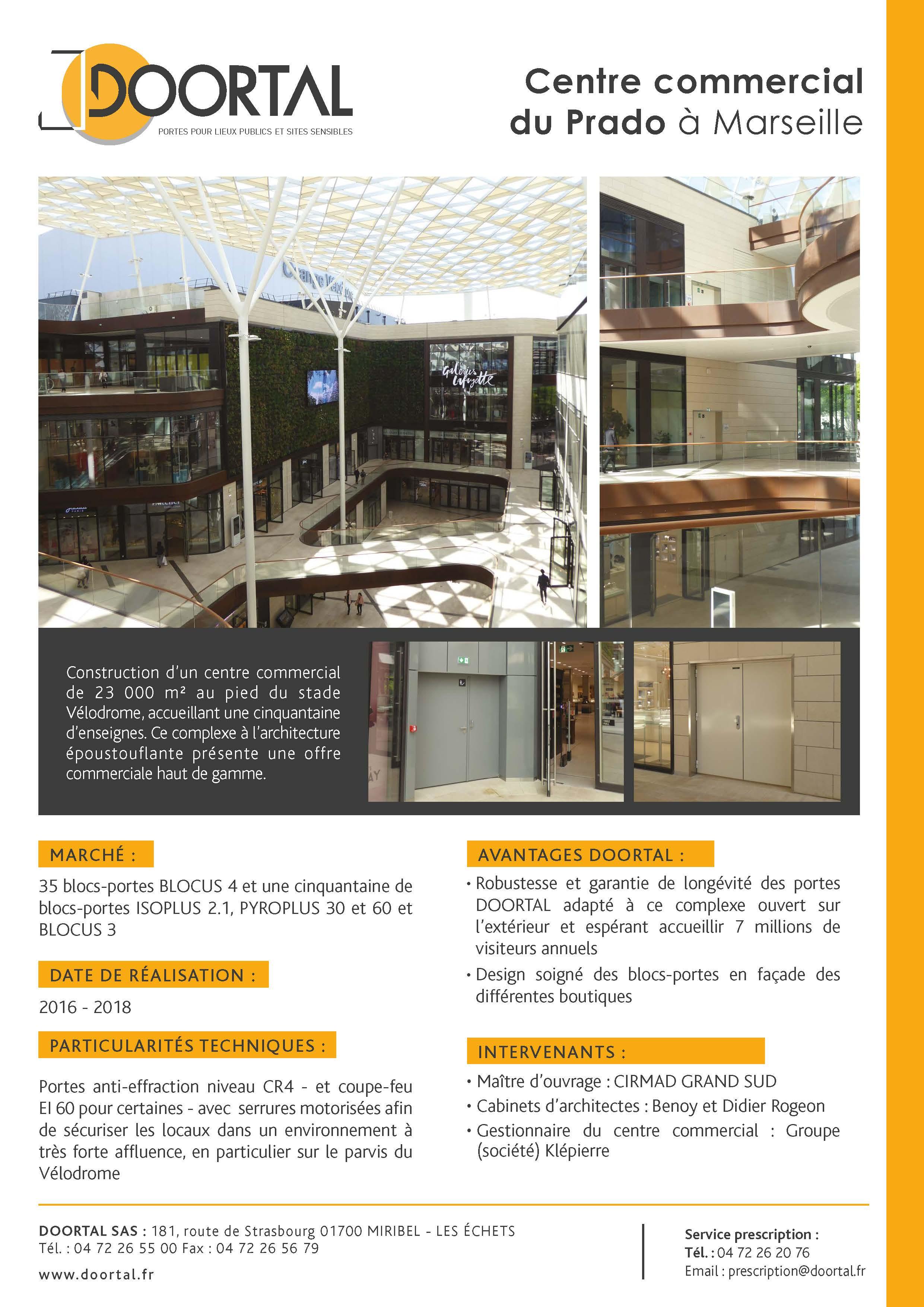 Portes blind es au centre commercial du prado doortal - Centre commercial les portes du soleil juvignac ...