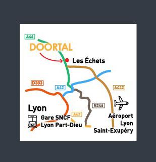Plan d'accès Doortal