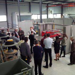 Buffet et visite de la nouvelle chaîne de fabrication