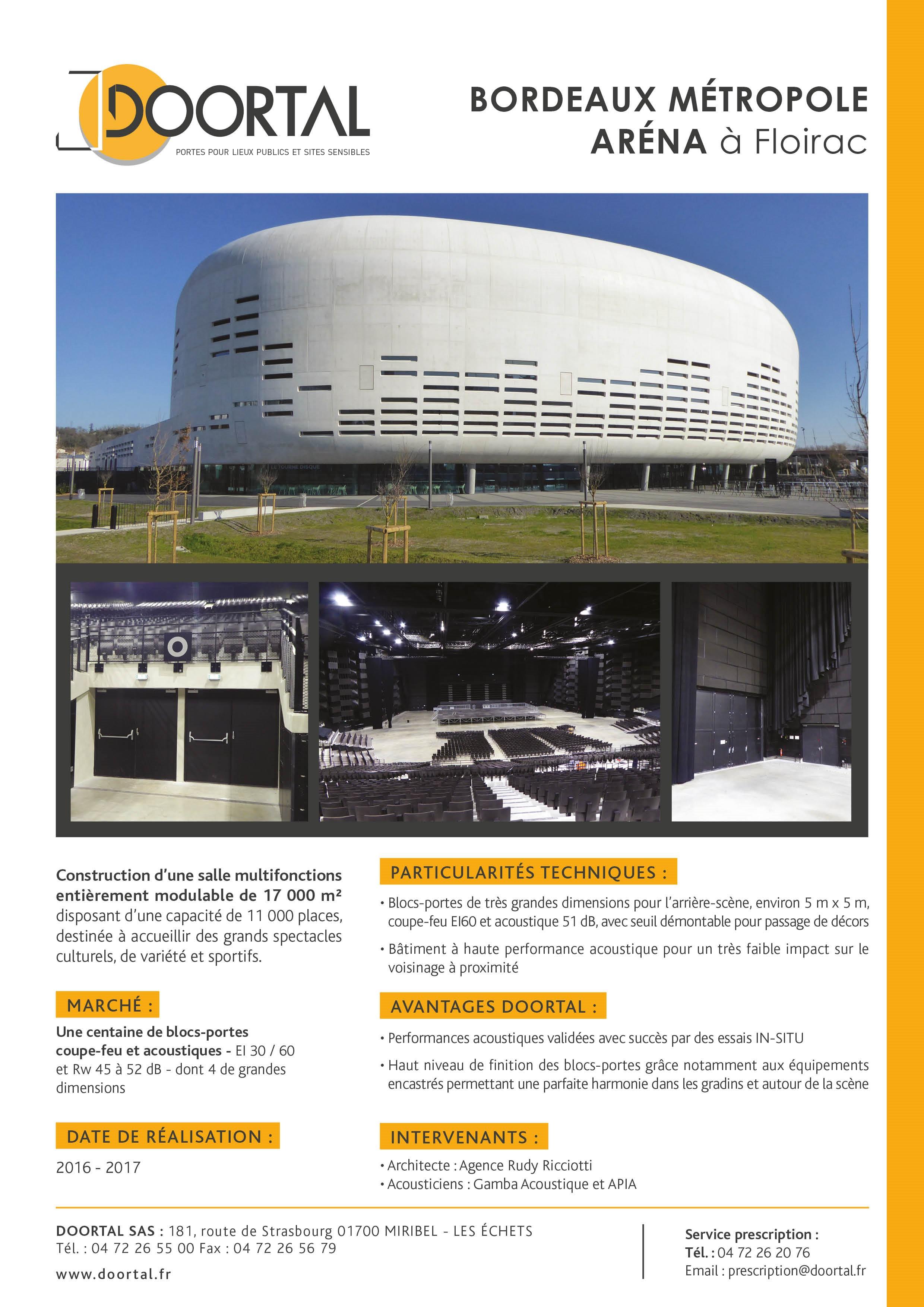 Fiche Bordeaux Métropole Arena