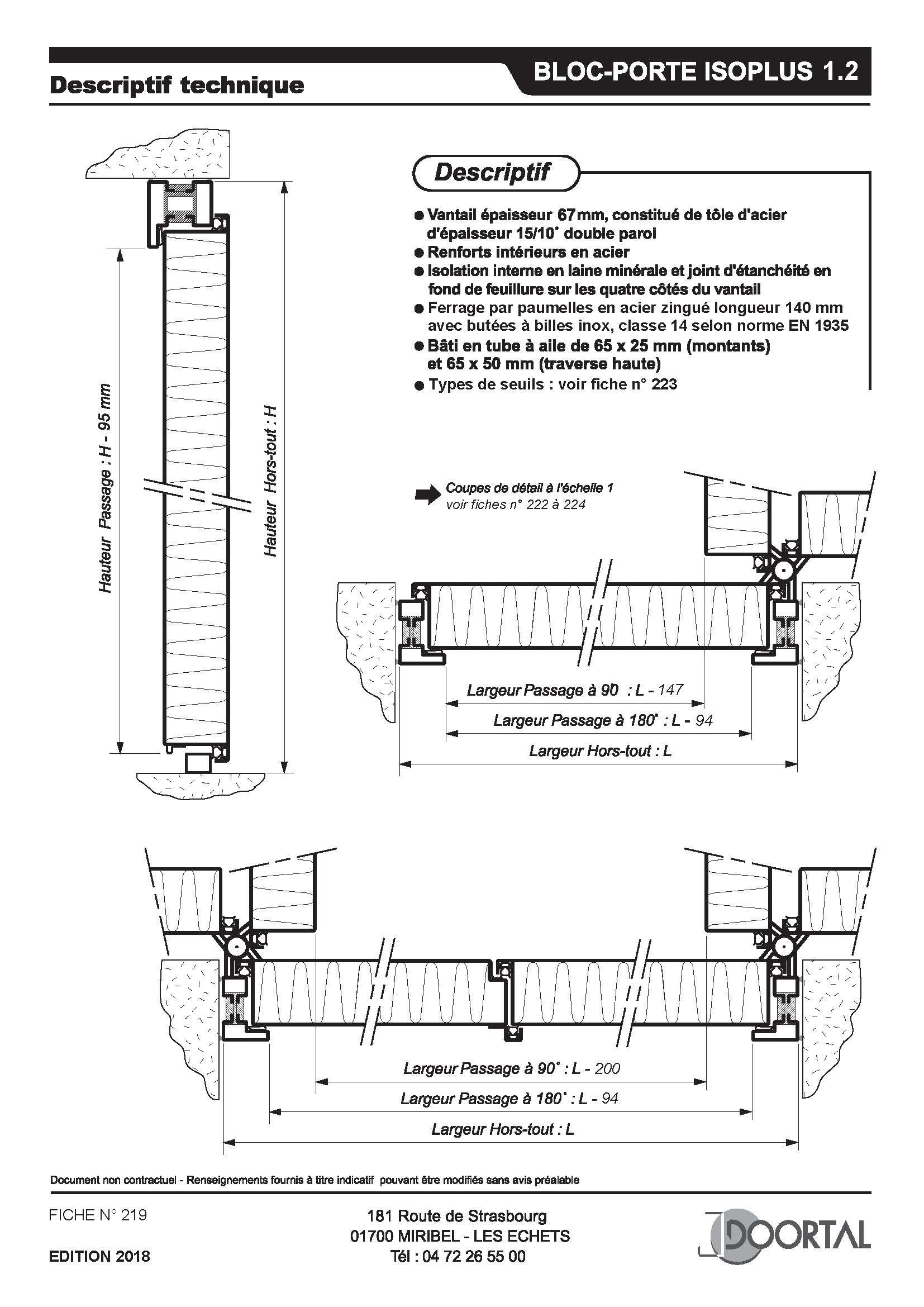 Fiche 219 - Descriptif technique Isoplus 1.2