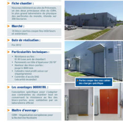 DOORTAL - Centre de recherche CERN Genève